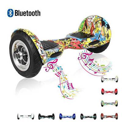 Hoverboard with self balancing wheel and bluetooth speaker 0