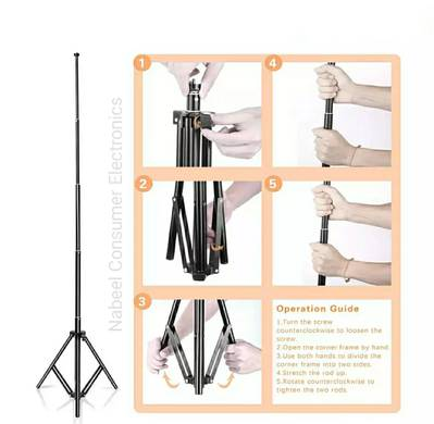 BOX PACKED STOCK Mobile Tripod Stand 7FT With Ring Light 26CM 2