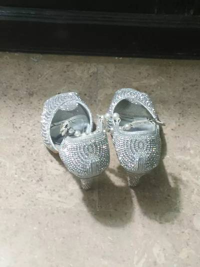 fancy bridal heels. 8 no. use for few hours for sale in reasonable price 1