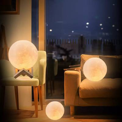 Rechargeable Moonlight Lamp 12cm 16 Color Changing 5