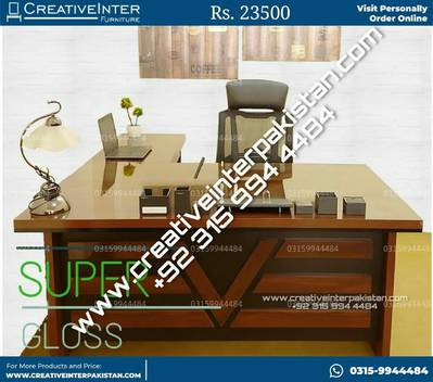 Executive Office Table Desk Counter  study computer chair workstation 5