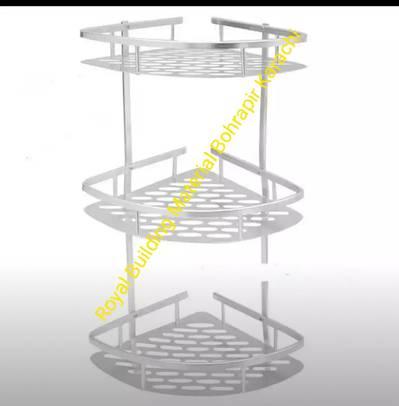 3 layer pure aluminum corner rack 2