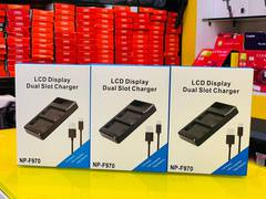 Dual charger for sony F970 battery 0