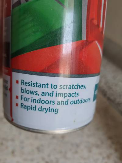 Baufix coloured Lacqure liquid spray paint made in GERMANY 7