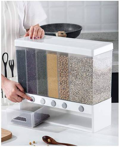 Wall Mounted Divided Rice And Cereal Dispenser 1