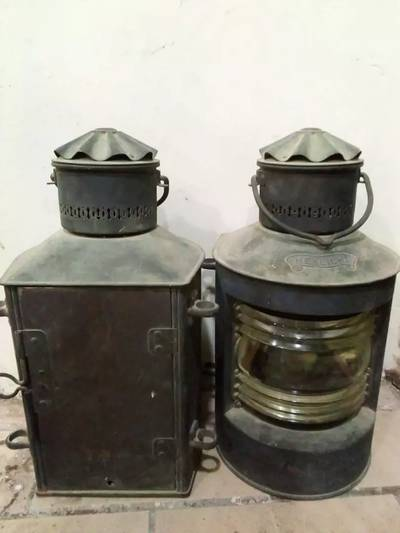 Classic vintage very old ship lamps electronic for sale 2