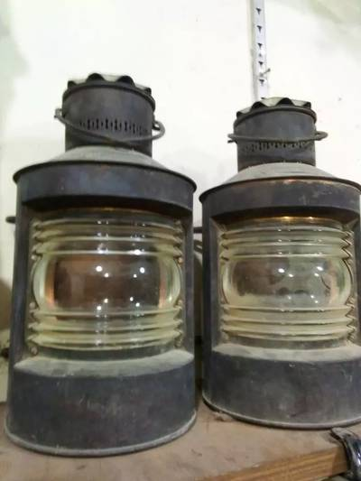 Classic vintage very old ship lamps electronic for sale 6