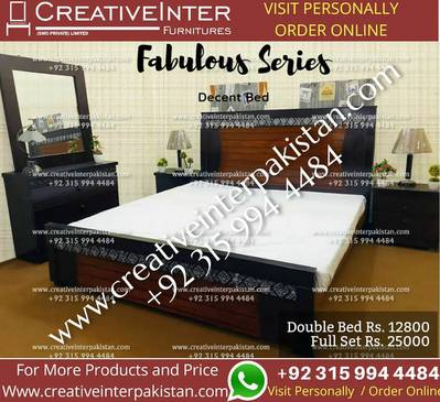 Double bed set excellentprice sofa dining table office chair cupboard 0