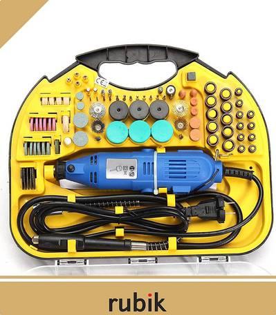 Rubik Rotary Tool Kit with MultiPro Keyless Chuck and Flex Shaft 1