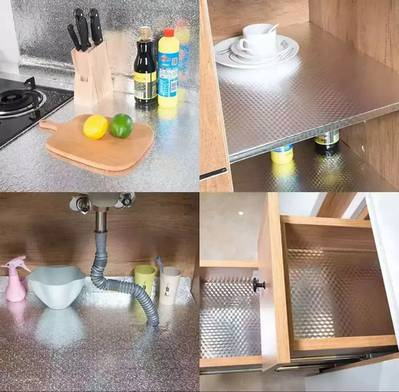 Marble To Table Home Cabinet Kitchen Aluminium Foil Roll Sticker Sheet 1