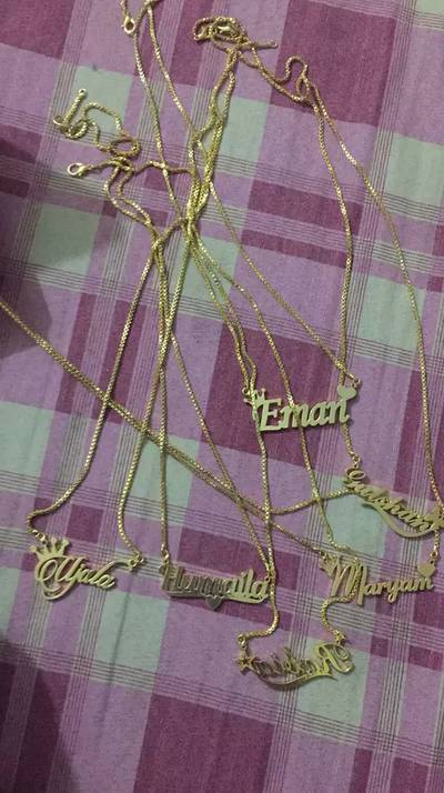 Customized Name 100% Gold Necklace Jewellery 6