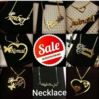 Customized Name 100% Gold Necklace Jewellery 11