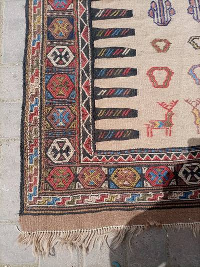 Hand knotted 100% wool kilim 1
