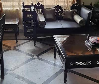 Chinioty sofa set with centre and side tables. 0