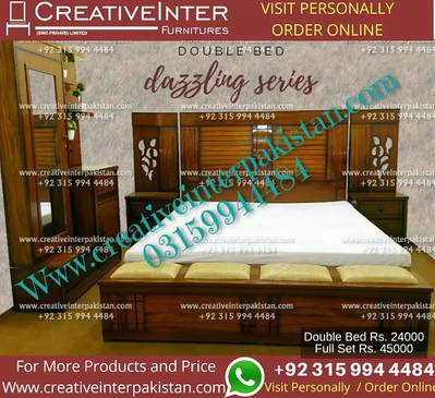 Double bed set beautiful sofa dressing dinning table Center wardrobe 4