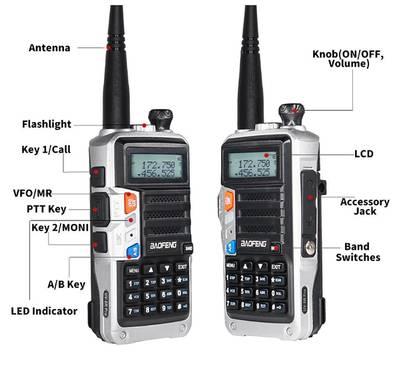 کم قیمت ہائی رینج وائرلیس Walkie talkie 8W UV-T2 New Baofeng Wireless 2
