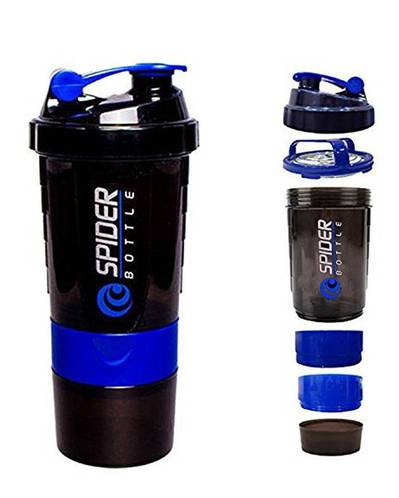 Spider Smart Protein Shaker Bottle for Gym With 2 Extra Storage 500ml 1