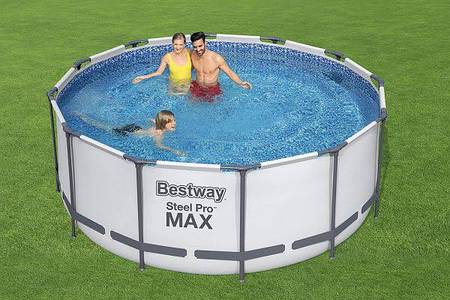 Bestway Steel Pro Round Swimming Pool For Kids And Adults 0