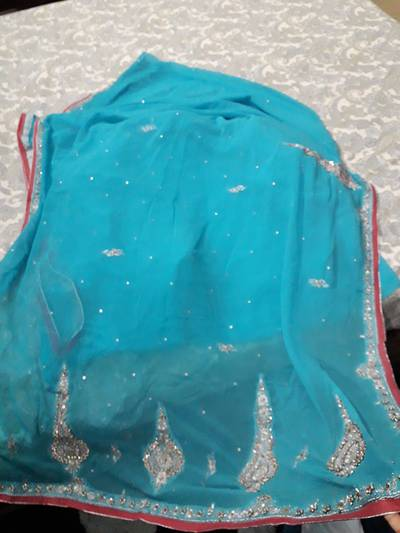 Formal saris with heavy border unstitched 9