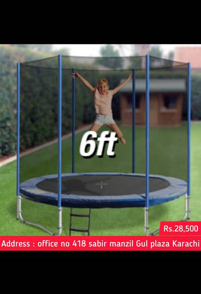 Trampoline all sizes Available , Jumpoline , Swimming pool available 1
