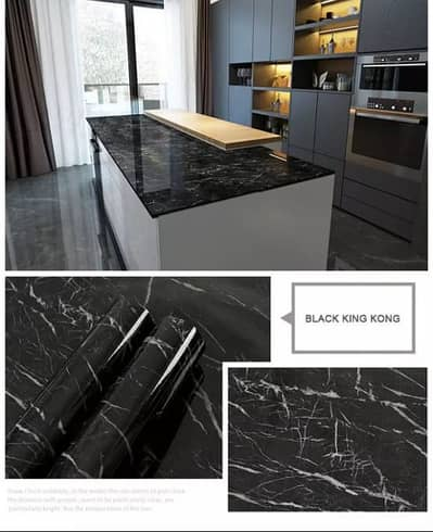 Gym Counter Marble Sheet Kitchen Sticker Home Wall Paper Waterproof 2