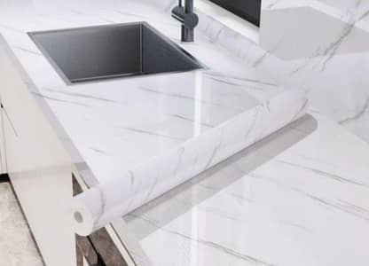 Gym Counter Marble Sheet Kitchen Sticker Home Wall Paper Waterproof 5