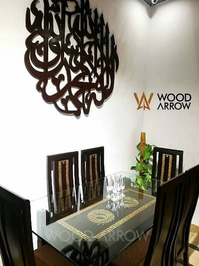 Designer Dining table Versace desing 6 chair's pure wooden/ 0