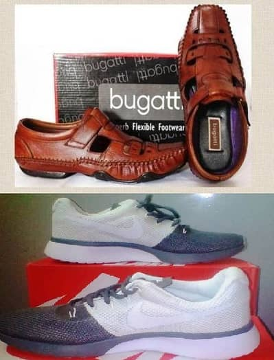 Combo Bundle Bugatti Leather Sandals with Joggers for Men 0