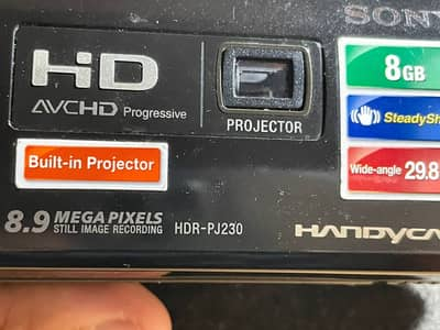 Sony HDR-PJ230/B PROJECTOR Camera with 2.7-Inch LCD 4