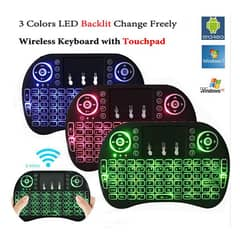 Mini Touch Pad Rf 500 Wireless With 3 Colour Backlight Keyboard Mouse 0