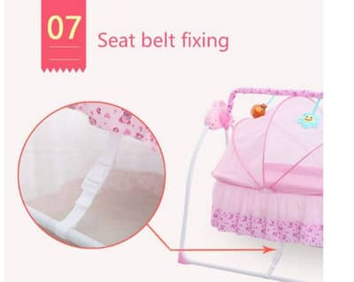 Baby sleeping remote-controlled electronic cradle with mosquito net 10