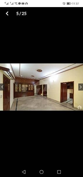 10 Marla corner house first floor portion for rent in  Marghzar Colony 6
