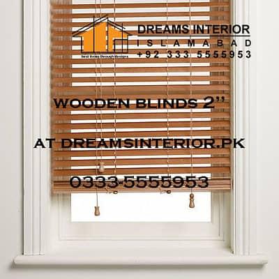 Shangri-La Zebra Venetian Roller wooden verman blinds in islamabad 4