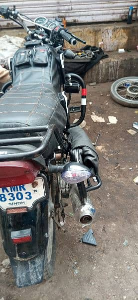 Suzuki GS 150 full cover and side bag sweet leather made water proof 12