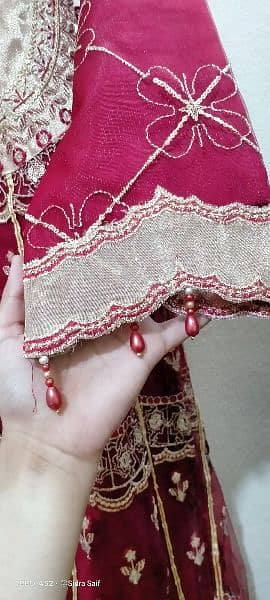 Net full Embroidery frock with latest style. 3