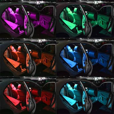 Car Remote Controlled RGB LED Lights 16 Color changing 6